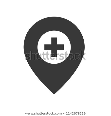 Hastane konum vektör ikon yalıtılmış beyaz Stok fotoğraf © smoki