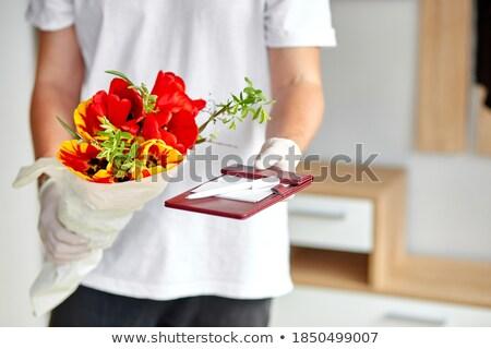 Kurier medizinischen online Bouquet Stock foto © Illia