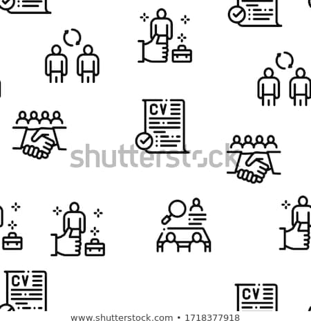 Recruitment And Research Employee Seamless Pattern Vector Stock photo © pikepicture