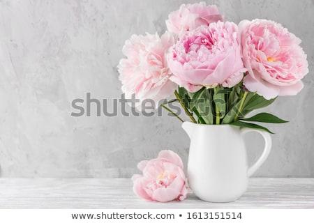 Bukiet kwiaty Wazon wystrój wnętrz ślub Zdjęcia stock © Anneleven