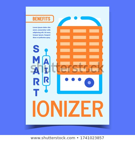 Air Ionizer Smart Device Promotional Poster Vector Stock photo © pikepicture