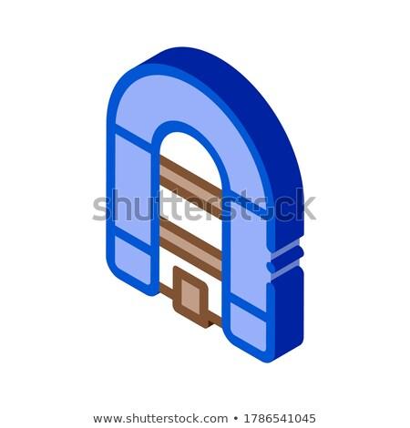 Opblaasbare ruim boot isometrische icon vector Stockfoto © pikepicture
