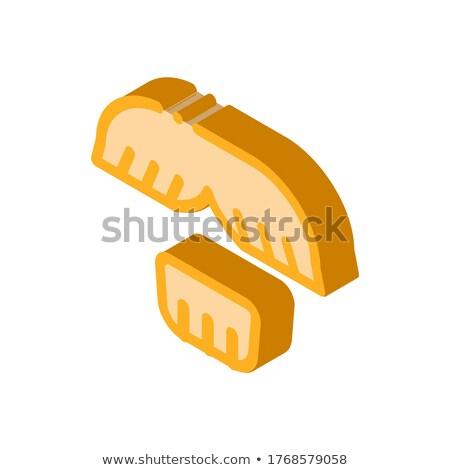 Cara bigode queixo cabelo isométrica ícone Foto stock © pikepicture