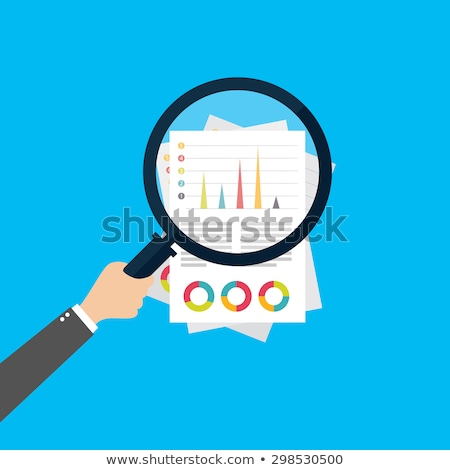 Financial forecast flat vector illustration Stock photo © RAStudio