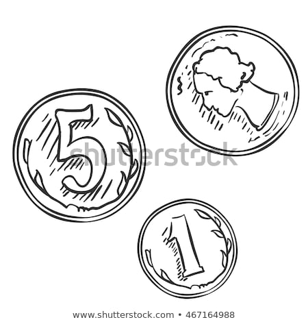 öt · Euro · cent · érme · közelkép · izolált - stock fotó © morrbyte