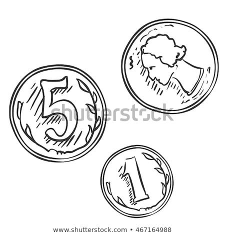 five cent pieces stock photo © morrbyte