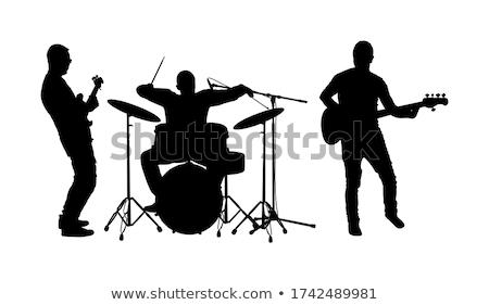 elektromos · gitár · izolált · fehér · zene · gitár · bár - stock fotó © hasenonkel