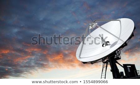 спутниковой блюд закат большой массив Нью-Мексико Сток-фото © mtilghma
