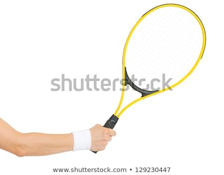 mannelijke · tennisspeler · permanente · racket · portret · knap - stockfoto © photography33