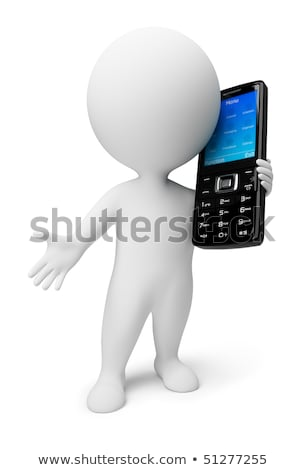 3d small people   mobile phone stock photo © anatolym