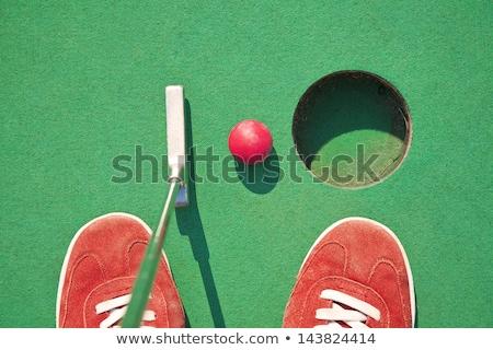 男 · 演奏 · ミニチュア · ゴルフ · クラブ · ボール - ストックフォト © leeser