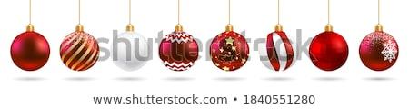 renkli · Noel · kar · arka · plan · kırmızı - stok fotoğraf © borna_mir