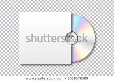 Beyaz müzik cd kompakt disk oda metin Stok fotoğraf © nicemonkey