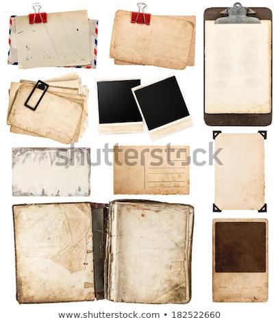 古い紙 封筒 孤立した 白 ベクトル オフィス ストックフォト © almoni