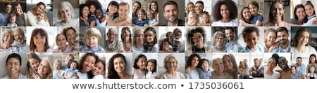 closeup portrait of happy family stock photo © hasloo