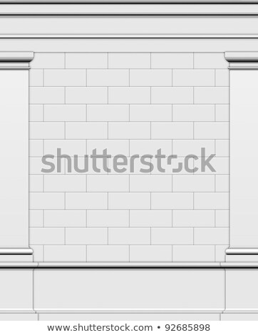 3d render side wall of a typical Greek Roman structure Stock photo © Melvin07