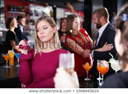 Descuidado nina potable alcohol nino botella Foto stock © ivonnewierink