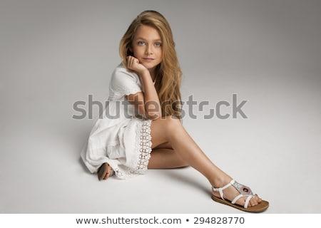 vonzó · szőke · nő · tökéletes · test · szőke · nő · hölgy · tavasz - stock fotó © konradbak
