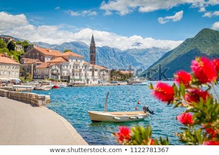 Montenegro cidade igreja senhora rochas Foto stock © joyr