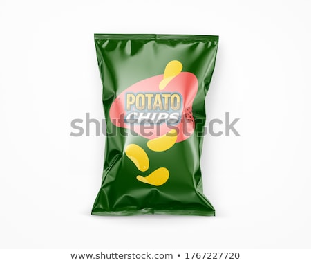 potato chips in coloured packing Stock photo © konturvid