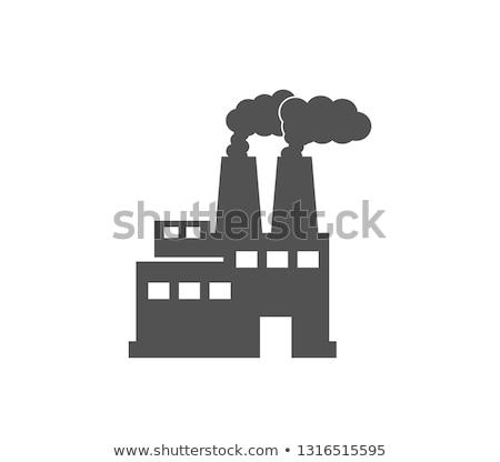 Vecchio fabbrica fumare Foto d'archivio © schizophrenia