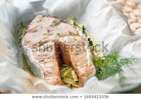 Succulent Fish And Onions Dish Stock photo © Kacpura