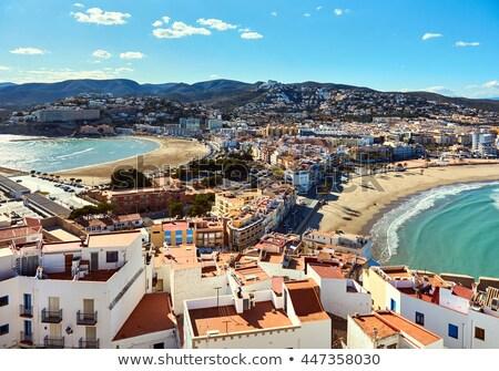 İspanya fotoğraf plaj gün batımı deniz dağ Stok fotoğraf © luiscar