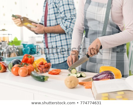prêt · four · préparé · ingrédients · table - photo stock © photography33