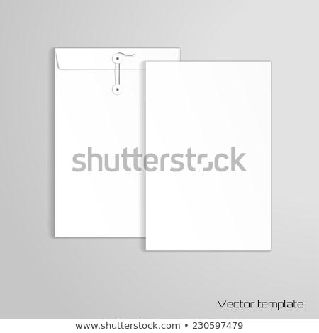 Grand enveloppe document blanche Photo stock © devon