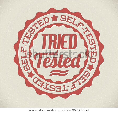 Vector retro self tried and tested stamp Stock photo © orson