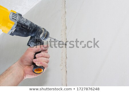 builder hammering wall stock photo © photography33