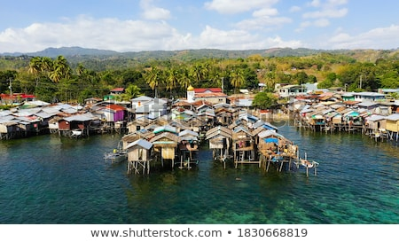 Philippines · village · tropicales · paysage · traditionnel · bateaux - photo stock © joyr