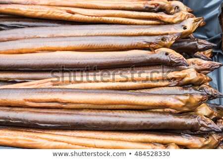 Preparation of smoked eel Stock photo © Saphira