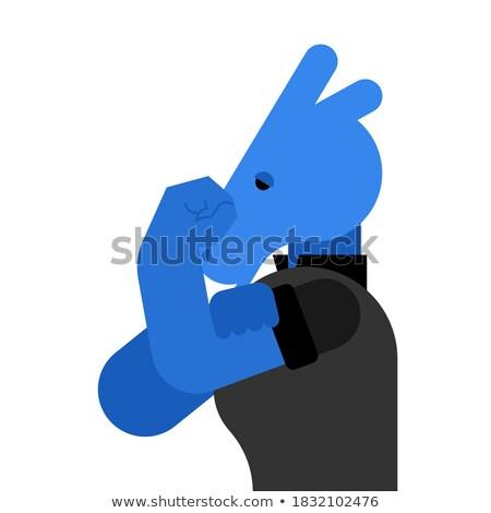 Cartoon · burro · actitud · marrón - foto stock © TTC