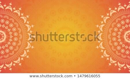цветочный Индия дизайна вектора файла стороны Сток-фото © cienpies