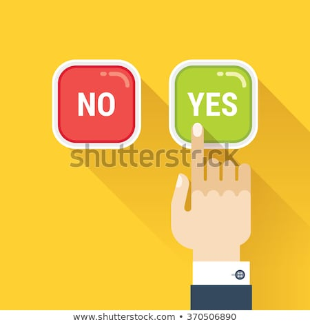 Businessman pressing buttons Yes/No Stock photo © vlad_star