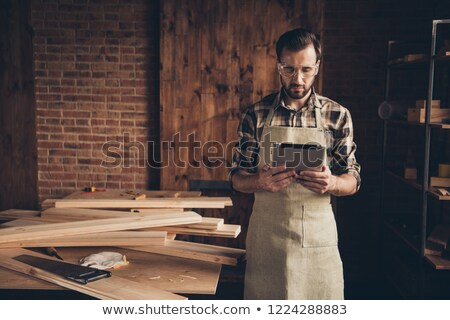male artisan worker holding laptop stock photo © photography33