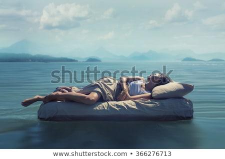 nő · alszik · fürdő · gyönyörű · női · modell - stock fotó © Anna_Om