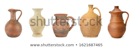 Rustic Handmade Pot Isolated Stockfoto © Serg64