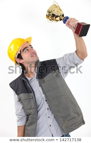tradesman holding a trophy stock photo © photography33