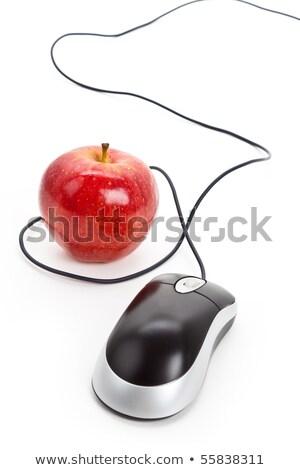 Компьютерная · мышь · красное · яблоко - Сток-фото © devon