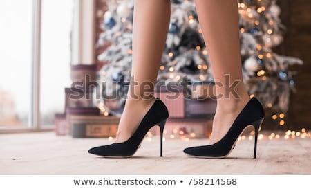 hosszú · lábak · szexi · afroamerikai · nő · rövid · ruha · hosszú - stock fotó © ruslanomega