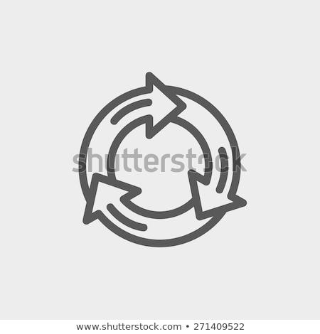 abstract vector life cycle diagram stock photo © orson