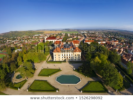 Jardin château République tchèque beauté Voyage histoire Photo stock © CaptureLight