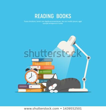 hoop · oude · boeken · klok · tijd · lezing - stockfoto © tashatuvango