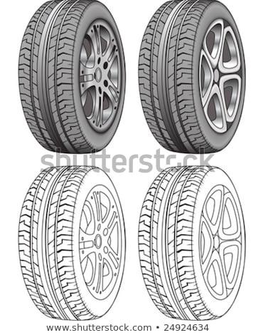 pneus · linhas · realista · casal · bem · linha - foto stock © meshaq2000