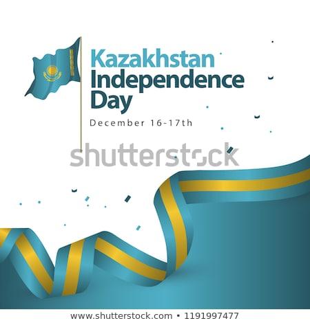 Köztársaság Kazahsztán Ázsia térképek meg extra Stock fotó © Vectorminator