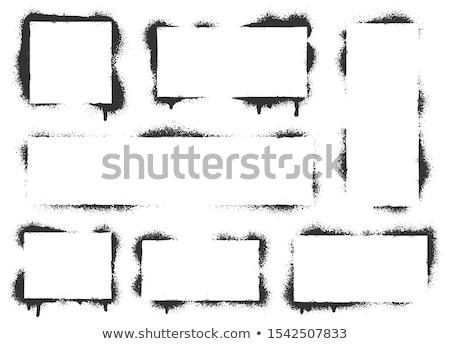 Festékszóró keret papír kéz festék háttér Stock fotó © jeremywhat