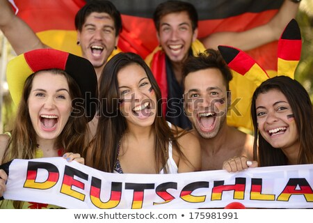 Man and woman supporting German football team Stock photo © photography33