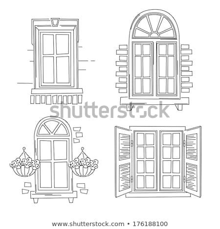 дома · фасад · кирпичная · стена · окна · детали · город - Сток-фото © re_bekka